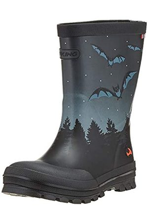 Viking Unisex-Kinder Jolly Bat & Eagle Gummistiefel, (Black/Multi 250)