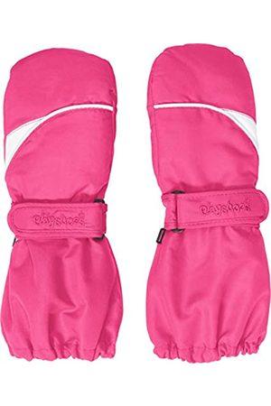 Playshoes Kinder Fäustlinge mit Thinsulate-Technik und und langem Schaft warme Winter-Handschuhe mit Klettverschluss, pink