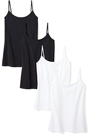 Amazon 4-Pack Camisole tank-top-and-cami-shirts, Black White