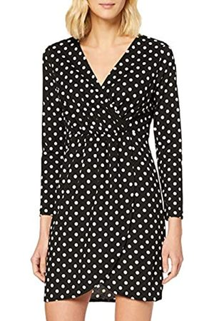 Mela Damen Polka Dot Wrap Front Dress Lässiges Kleid