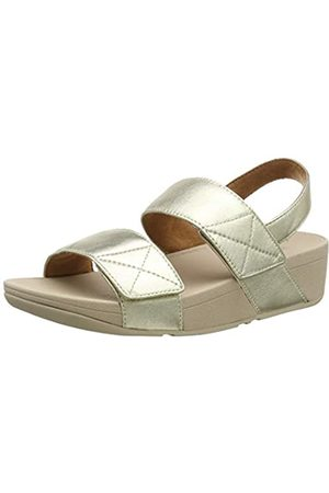 FitFlop Damen Mina Adjustable Leather Sandalen, (Ss19 Platino 675)