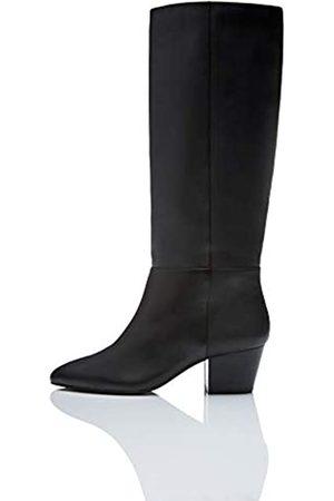 FIND Leather Overknees, Black)
