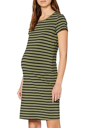 Supermom Damen Dress Ss Striped Olive Kleid, Mehrfarbig (Burnt P513)
