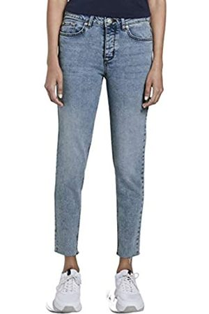 TOM TAILOR mine to five Damen Slim Straight Hose, 10280-light Stone wash Denim
