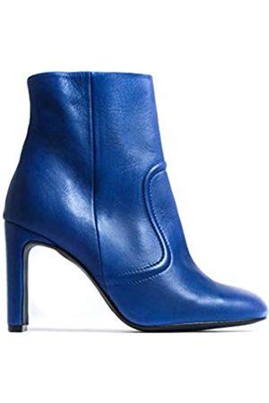 L'INTERVALLE Damen CIENEGA Blue Leather Halblange Stiefel