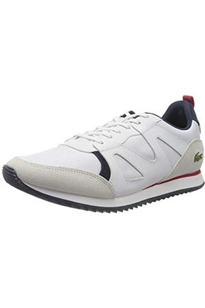 Lacoste Herren Aesthet 120 2 SMA Sneaker, (Wht/NVY/Red 407)