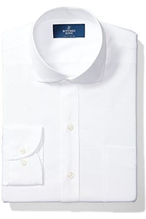 Buttoned Down Slim Fit Solid Pocket Options Smoking Hemd, White (with)