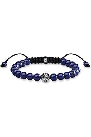 Thomas Sabo Damen Herren-Armband Ethno blau Rebel at heart 925 Sterling Länge 22 cm A1779-535-1-L22v