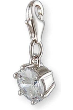 Melina Damen-Charm Anhänger Kristall White 925 Sterling Silber 1800904