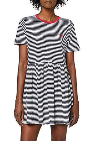 Tommy Hilfiger Damen Tjw Stripe Tee Dress Kleid, (Twilight Navy/White 0ze)