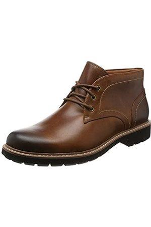 Clarks Herren Batcombe Lo Chelsea Boots, (Dark Tan Lea)