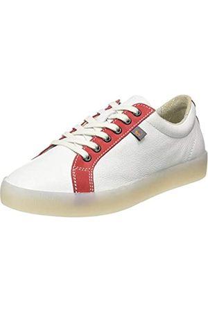 softinos Damen SURY585SOF Sneaker, Mehrfarbig (White/Lipstick Red 008)