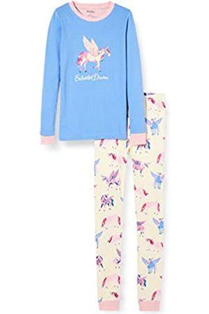 Hatley Mädchen Organic Cotton Long Sleeve Appliqué Pyjama Sets Zweiteiliger Schlafanzug
