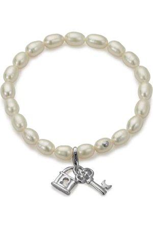 ADRIANA Damen Armband 925 Sterling rhodiniert Perlmutt Romantica 18.0 cm B16