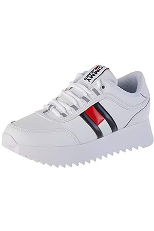 Tommy Hilfiger Damen HIGH Cleated Flag Sneaker, (White Ybs)