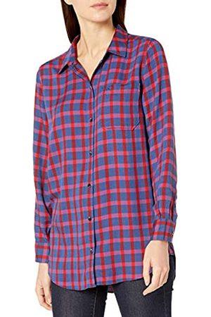 Goodthreads Modal Twill Long-Sleeve Boyfriend dress-shirts, Blue/Red Plaid