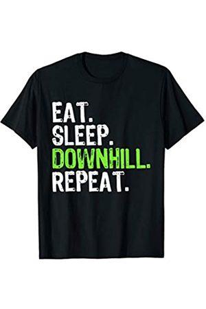 Fahrrad MTB Downhill Bekleidung Downhiller Sprüche Eat Sleep Downhill Repeat MTB Mountainbiker Biker Downhiller T-Shirt