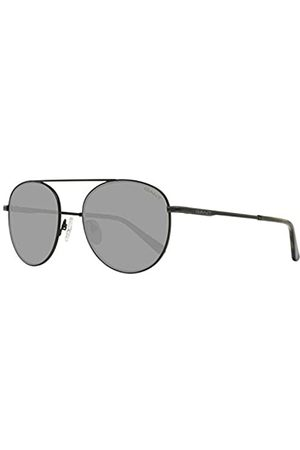 GANT Herren GA7106 Sonnenbrille, (Matte Black/Green)
