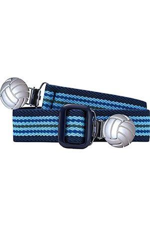 Playshoes Unisex - Kinder Gürtel 601211 Elastischer gestreifter Kindergürtel mit Fußball Clips, passend bei Größe 74-110
