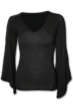 Spiral Damen Gothic Elegance-V Neck Goth Sleeve Top Langarmshirt