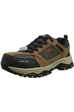 Skechers Men's GREETAH Trainers, Brown (Brown Suede Leather W/Textile Br Bk)
