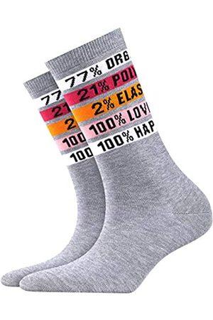 Burlington Damen Socken Happiness, Baumwollmischung, 1 Paar