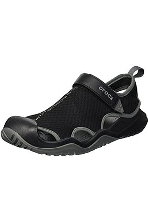 Crocs Herren M Swiftwater Mesh Deck Sandal 2052 Clogs, (Black 001)