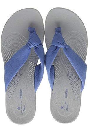 Clarks Damen Arla Glison Zehentrenner, (Mid Blue Mid Blue)