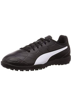 Puma Unisex-Kinder Monarch TT Jr Botas de fútbol, Black White