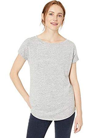 Daily Ritual Amazon-Marke: , bequemes Damen Langarm-Strickshirt mit Dolman-Ärmeln und U-Boot-Ausschnitt, Heather Grey