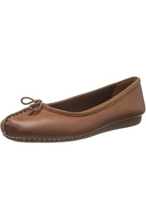 Clarks Freckle Ice, Damen Mokassin, (Dark Tan Lea)