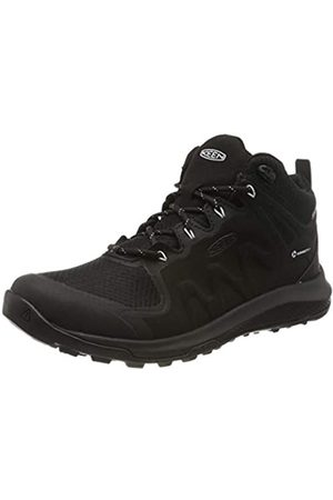 Keen Damen Explore Mid, Imperméable Trekking- & Wanderschuhe, (Black/Star White 002)