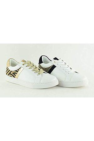 The Divine Factory Damen Latifa Sneaker, (White Raphiakenya 003)