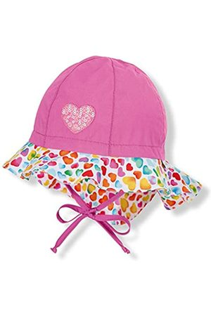 Sterntaler Flapper für Mädchen mit Bindebändern, Nackenschutz und Herz-Motiven, Alter: 5-6 Monate