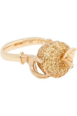 STEPHEN WEBSTER 18kt Gelbgoldring mit Diamanten und Saphiren