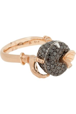 STEPHEN WEBSTER 18ct Rotgoldring mit Diamanten