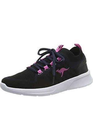 KangaROOS Unisex-Erwachsene KangaFOAM Adult Sock Sneaker, (Dk Navy/Daisy Pink 4204)