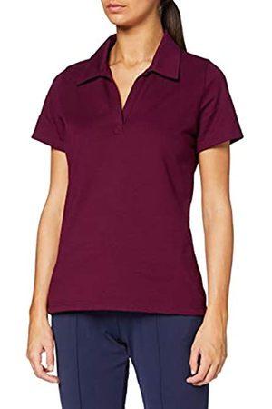 Trigema Damen Poloshirt ohne Knopfleiste, Einfarbig, Gr. 44 (Herstellergröße: L)