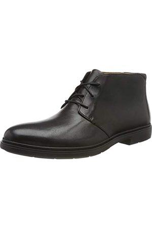 Clarks Herren Un Tailor Mid Chukka Boots, (Black Leather Black Leather)