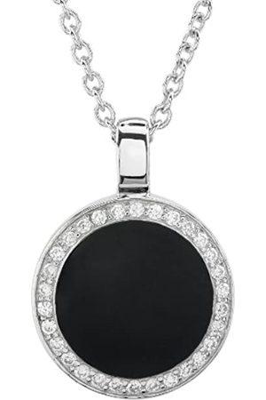 Burgmeister Damen-Halskette mit Anhänger rhodiniert