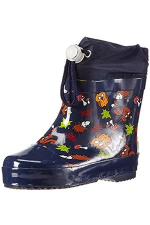 Playshoes Kinder Halbschaft-Gummistiefel, gefütterter Unisex Regenstiefel