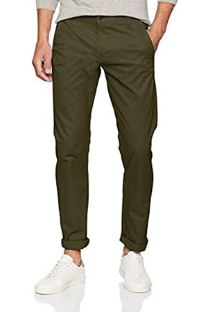 Dockers Herren Alpha ORIGINAL Khaki Slim Tapered - Stretch Twill Hose, Olive 0434