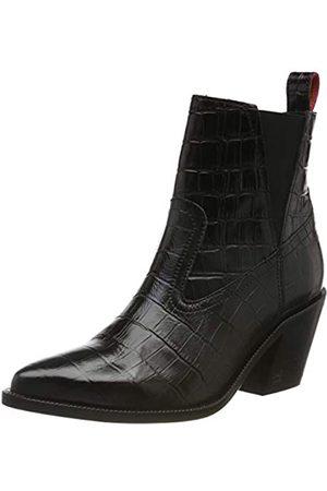 SCOTCH & SODA FOOTWEAR Damen Abbey Chelsea Boots, (Blk Croco Optics S005)