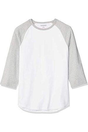 Amazon Herren Baseball-T-Shirt, schmale Passform, 3/4 Ärmel