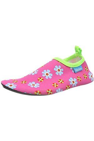 Playshoes Unisex-Kinder UV-Schutz Barfuß Blumen Aqua Schuhe, Pink (Pink 18)