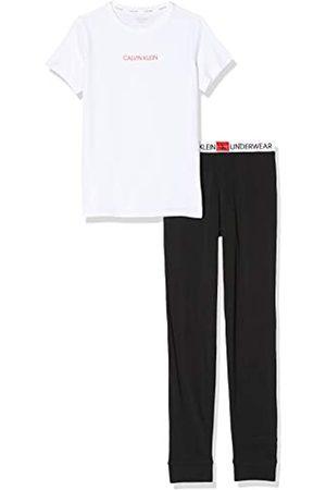 Calvin Klein Mädchen Knit Pj Set (ss+Pant) Zweiteiliger Schlafanzug