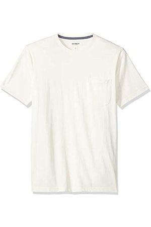 Goodthreads Amazon-Marke: Herren-T-Shirt Kurzarm mit Rundhalsausschnitt, aus Jersey in Wildlederoptik, White