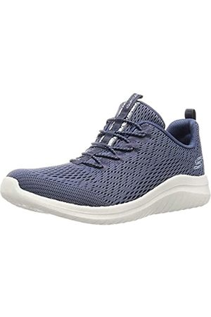 Skechers Women's Ultra Flex 2.0-LITE-Groove Trainers, Grey (Slate Mesh/Lt Blue Trim Slt)