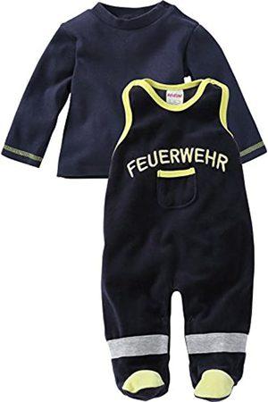 Schnizler Unisex Baby Strampler Set Nicki, Feuerwehr, 2 - tlg. mit Langarmshirt, Oeko - Tex Standard 100