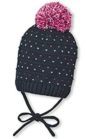 Sterntaler Strickmütze für Mädchen mit Bommel und Herzchenmuster, Gefüttert mit Baumwoll-Fleece, Alter: 12-18 Monate, Größe: 49